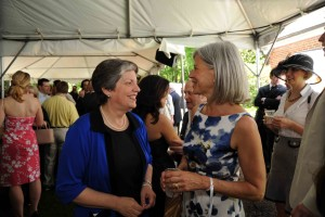 Secretary of Homeland Security Janet Napolitano and CURE Epilepsy's Susan Axelrod at the 2009 White House Correspondents' Garden Brunch