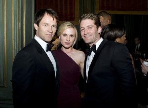 Stephen Moyer, Anna Paquin, and Matthew Morrison