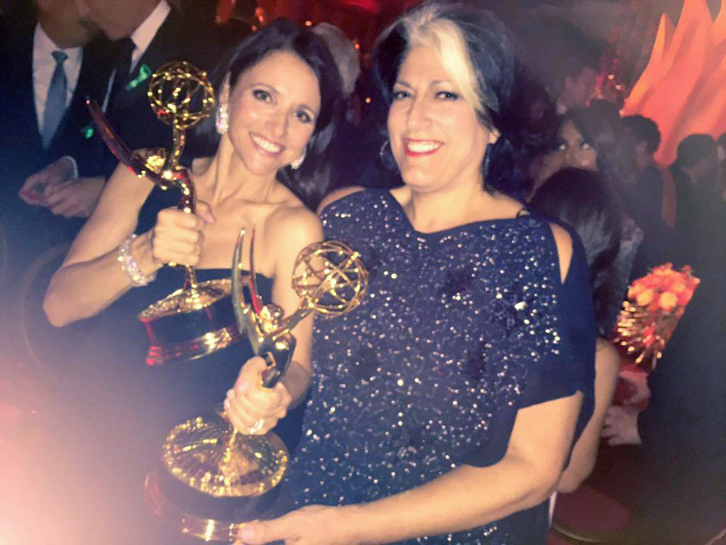 Julia Louis-Dreyfus and Tammy Haddad