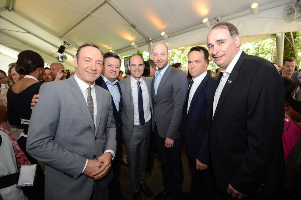 House of Cards stars Kevin Spacey, Michael Kelly, and Corey Stoll join Ted Sarandos, Dana Brunetti and David Axelrod