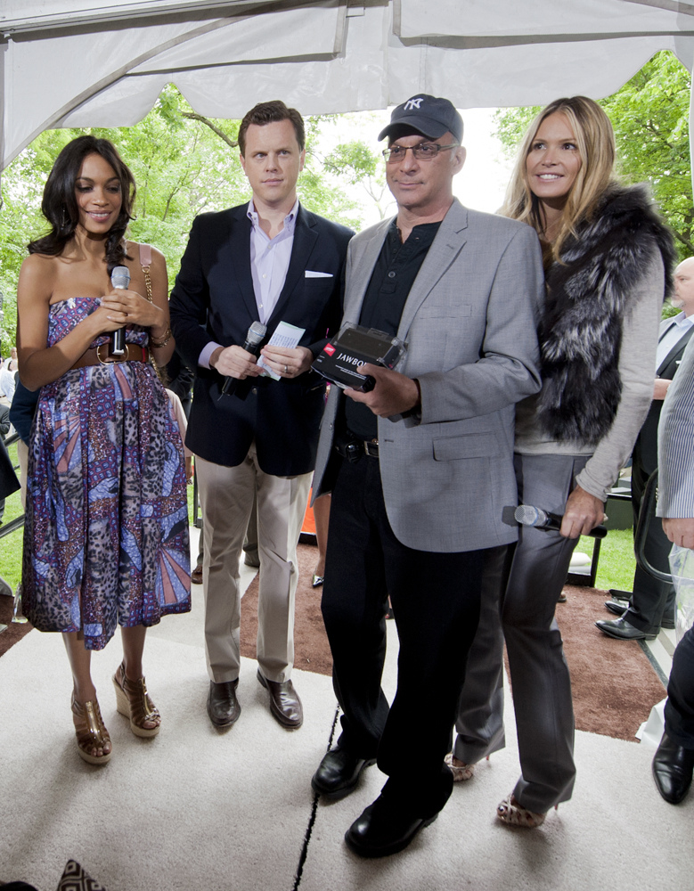 Rosario Dawson, Willie Geist, CURE donor David Haddad and Elle Macpherson at the 2012 White House Correspondents' Garden Brunch