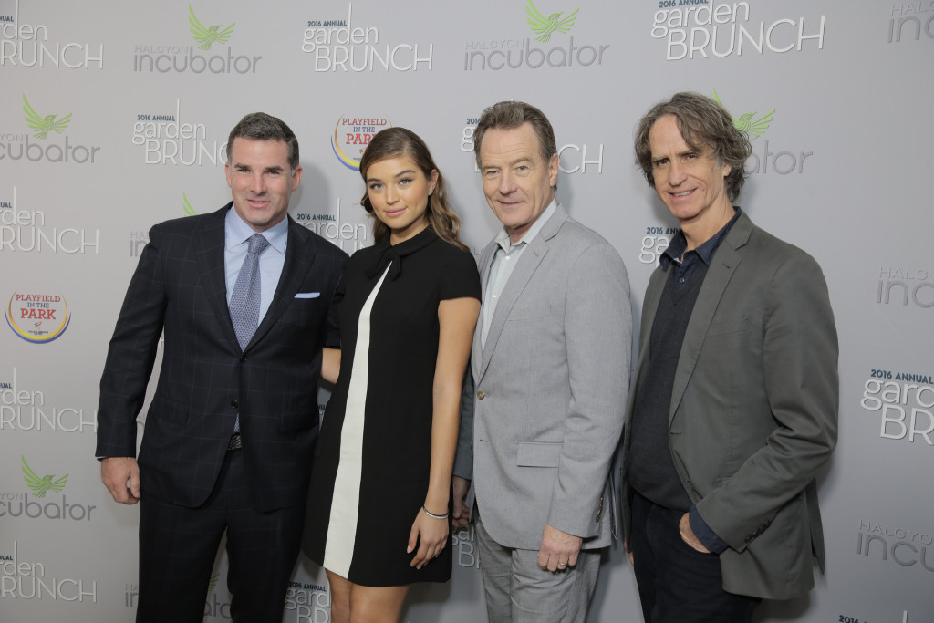 Kevin Plank, Daniela Lopez Osorio, Bryan Cranston and Jay Roach
