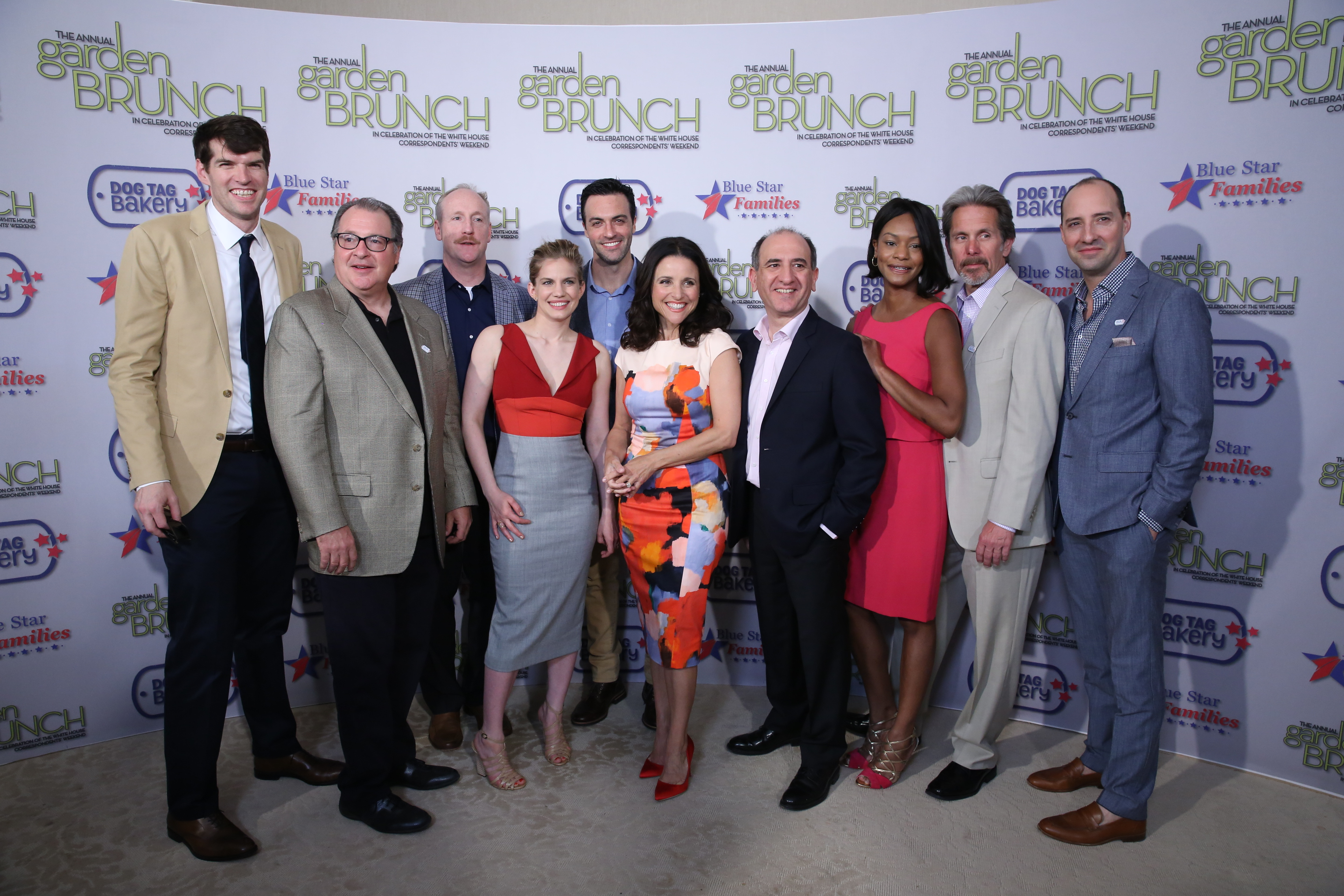 Cast of VEEP Garden Brunch 2014