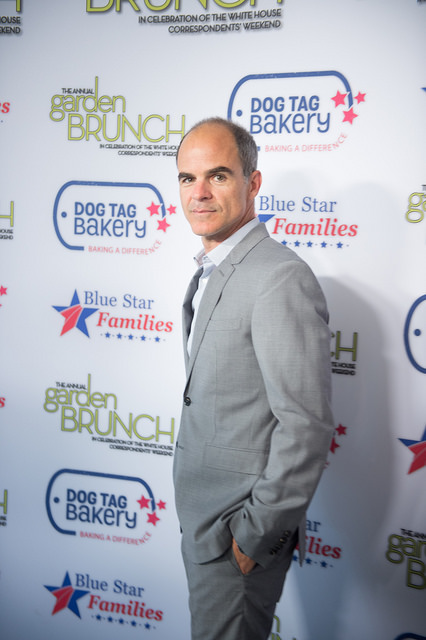 House of Cards' Michael Kelly, Sammies Awards emcee, at the White House Correspondents' Dinner Garden Brunch, Photo Courtesy of Haddad Media