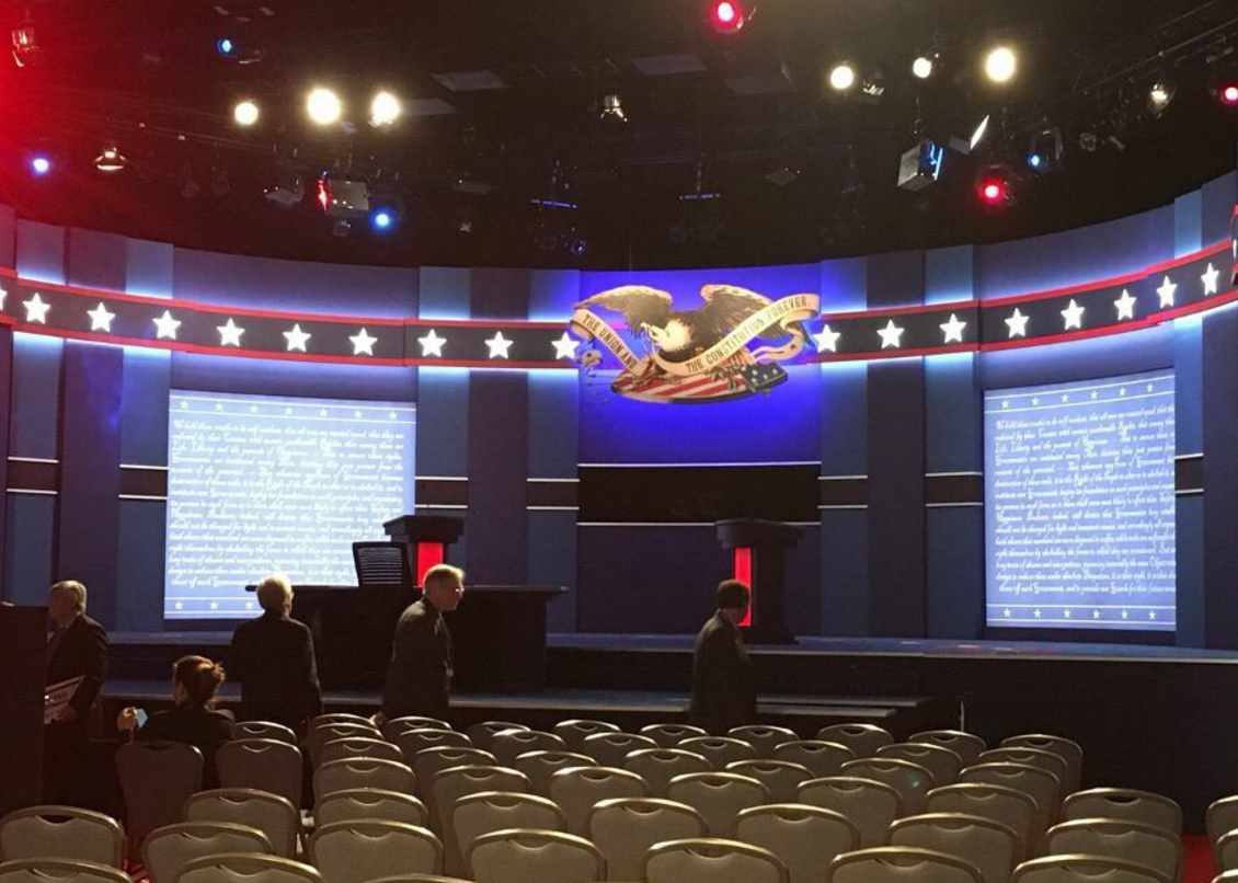 The Debate Stage at Hofstra University, Photo Courtesy Hofstra Chronicle