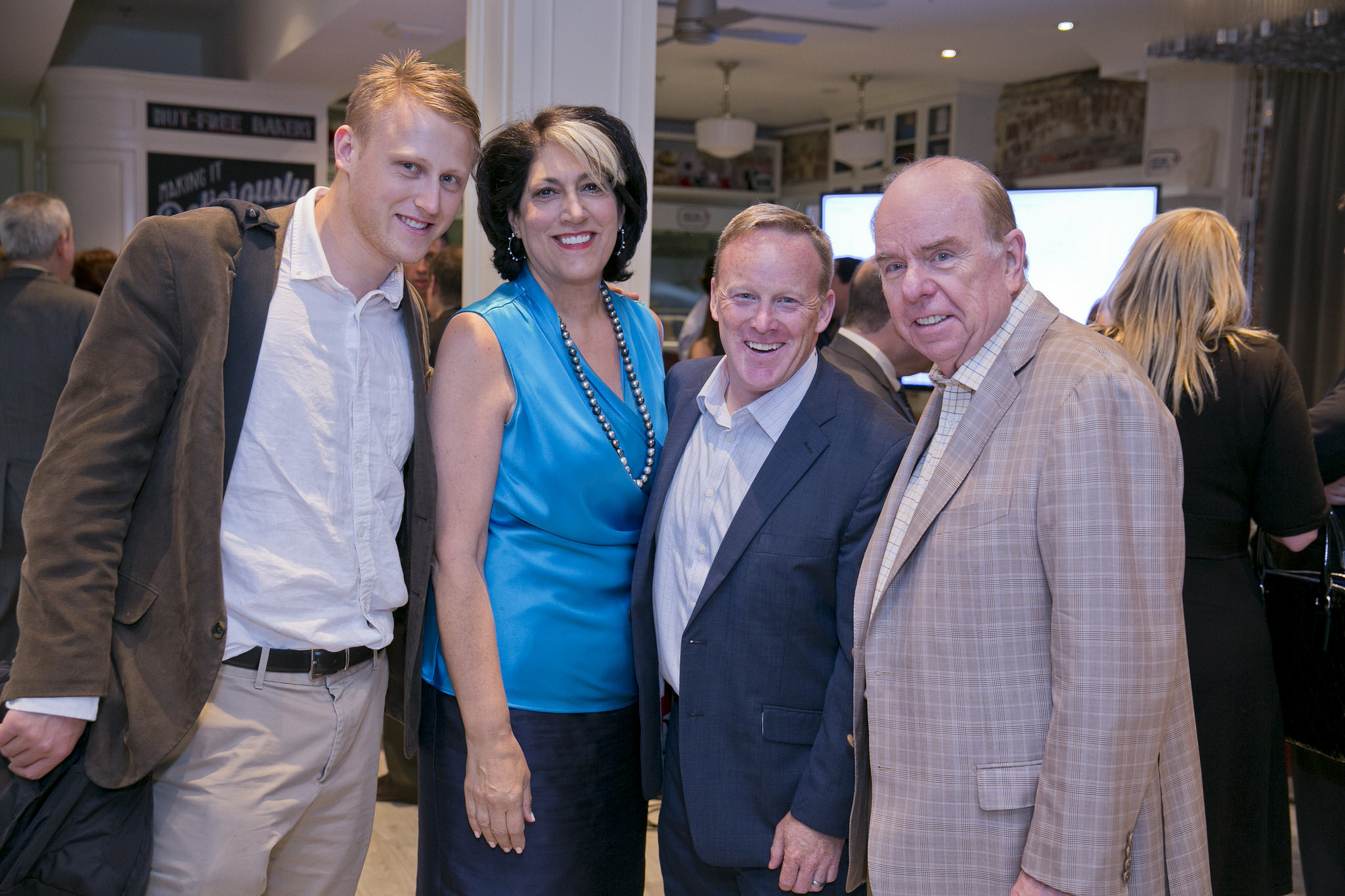 Daniel Lippman, Tammy Haddad, Sean Spicer. Photo courtesy of Haddad Media.