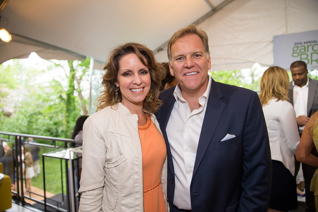 Kristi Clemens Rogers, Mike Rogers at 2016 White House Correspondents' Garden Brunch.  Photo courtesy of Haddad Media.