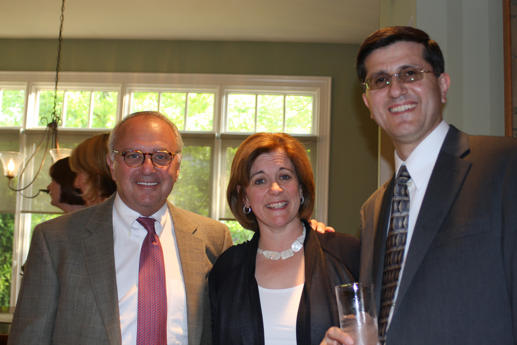 Rich Galen, Suzanne Clark, and Dr. Faruk Taban.  Photo courtesy of Haddad Media.